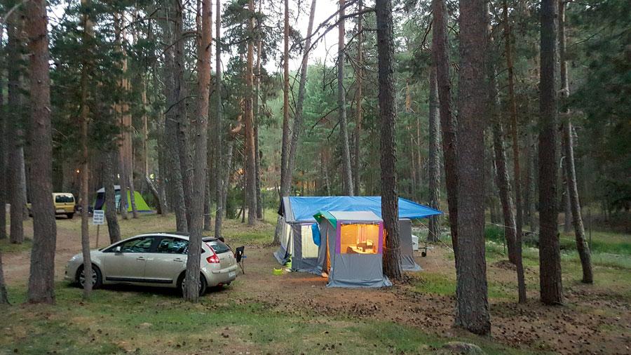 Parcelas en Camping Orea