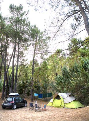 Parcela de acampada del Camping Río Mundo